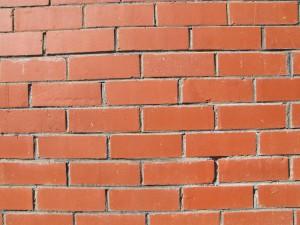 brique, texture, rouge, brique