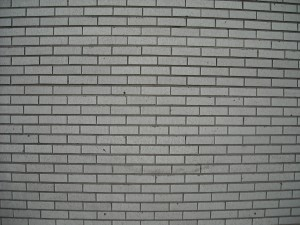 brick, white wall