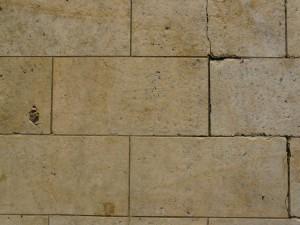 calcaire, sol, mur