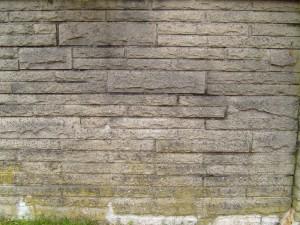 viejo, gris, hormigón, ladrillo, pared