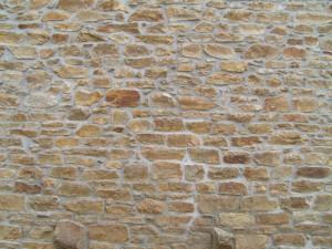 viejo, piedra, ladrillo, pared