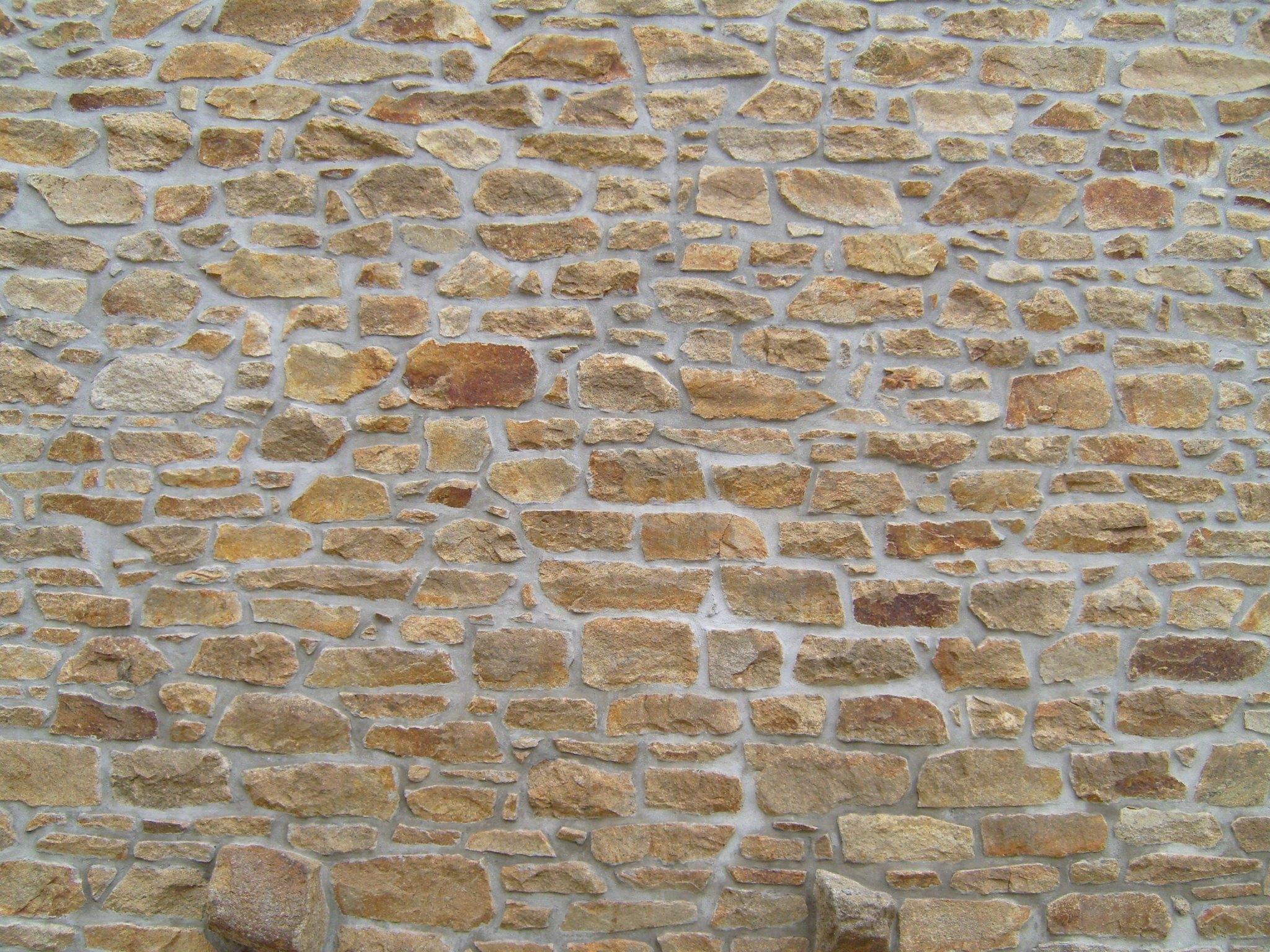 Free photograph; old, stone, brick, wall