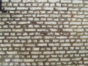 painted, brick, wall