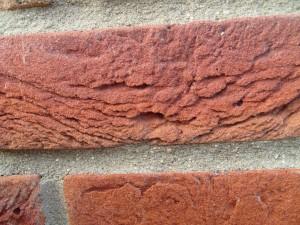 rouge, brique, détails, photo