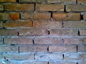 mur, plâtre, brique ancienne
