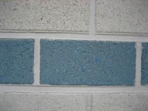 blanc, bleu, pierre, brique, mur