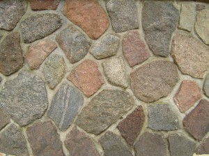 естествено, гранит, камък, стена