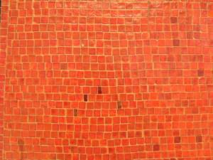 orange, mosaic, wall
