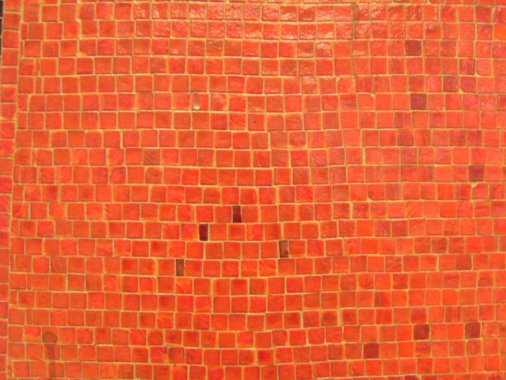 Ориндж, мозайка, стена