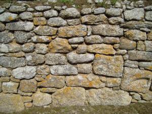 väggen, big, stenar