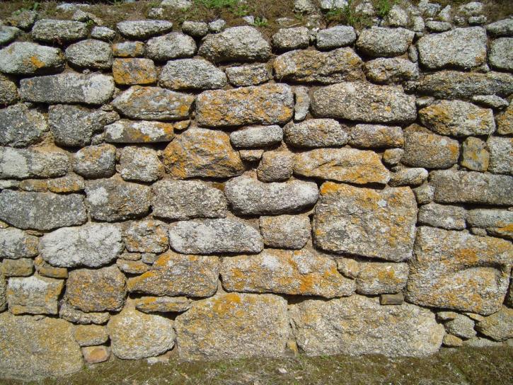 ściany, duże, kamienie