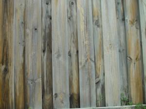 wooden, fence, slats