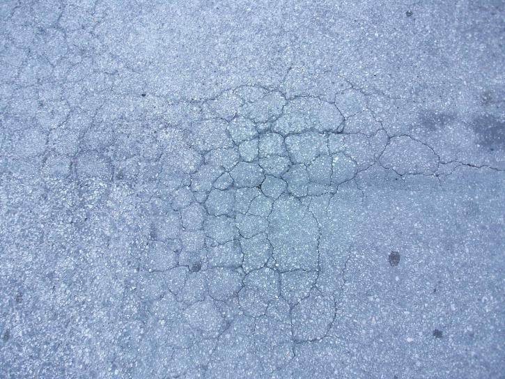 worn, cracks, asphalt, pavement