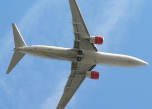 airplane, sky, close