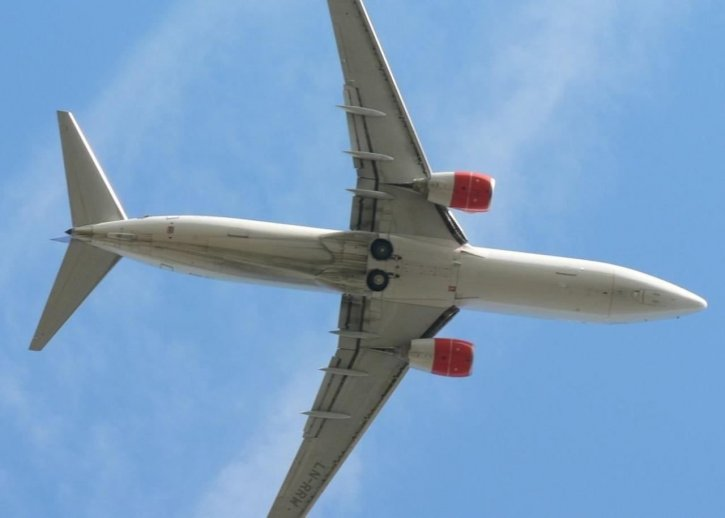 飞机, 天空, 关闭