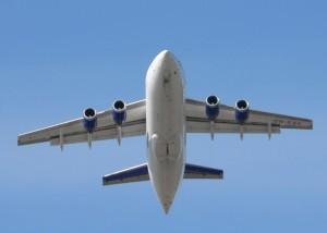airplane, takeoff, high