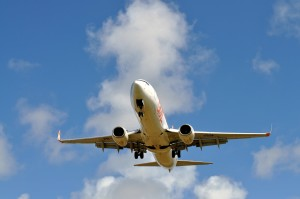 civilné, cestujúci, lietadlo sky