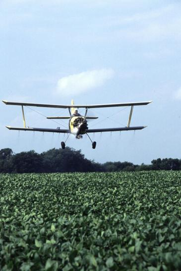 cropduster, soybean, field