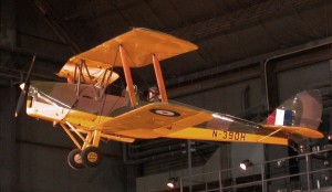Havilland tiger moth, trener