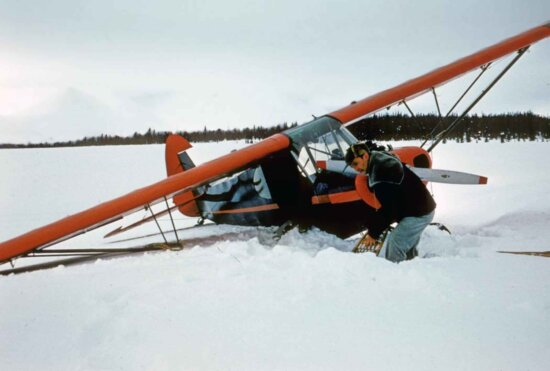 digging, airplane, snow