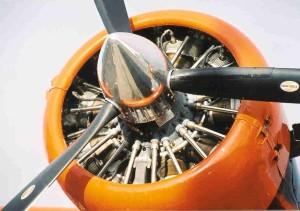 motor, propeleri, zrakoplova, blizu
