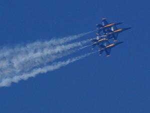 jets, avions, bleu, anges