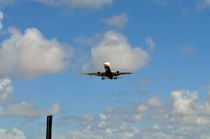 přistání, letadla, civilní, letiště