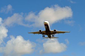 atterrissage, avion, aéroport