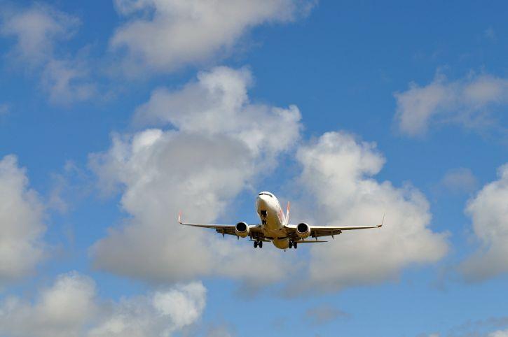 passageiro, avião, céu