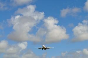 avion, aéroport, ciel, transport