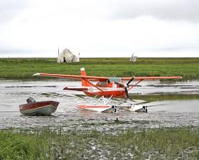 cessna, floatplane, airplane, aircraft