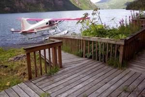 flotador, avión, lago, cabina, cubierta