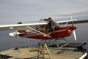 Wasserflugzeug, getankt