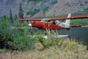 turbine, beaver, floatplane, lake