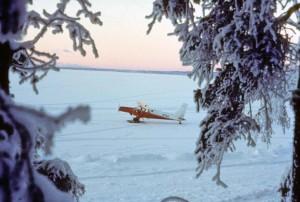 turbine, hydravions, neige
