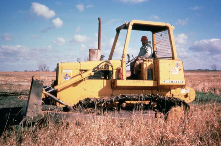 bulldozer, køretøj, arbejde