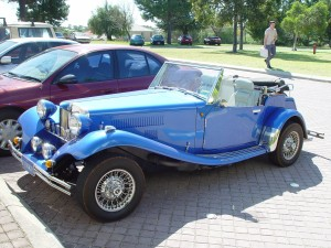 blue, roadster, Bentley, retro, old-timer car
