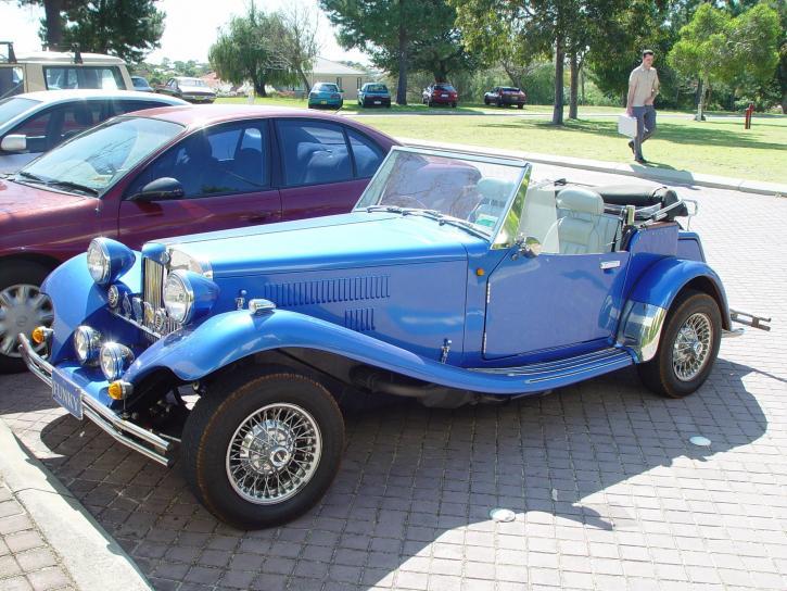 blue, roadster, Bentley, retro, old-timer car