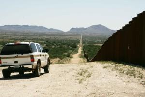 frontière, patrouille, voiture, patroling, frontière