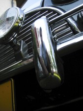 crome, partie, oldtimer, voiture