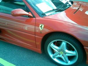 ferrari, voiture, rouge