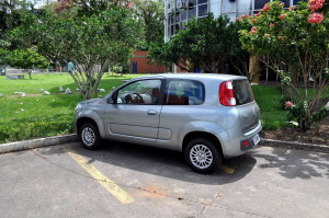 μεταλλικό, οικογένεια, αυτοκινήτου, χώρος στάθμευσης