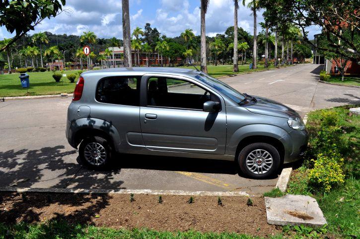 estacionado, coche, estacionamiento