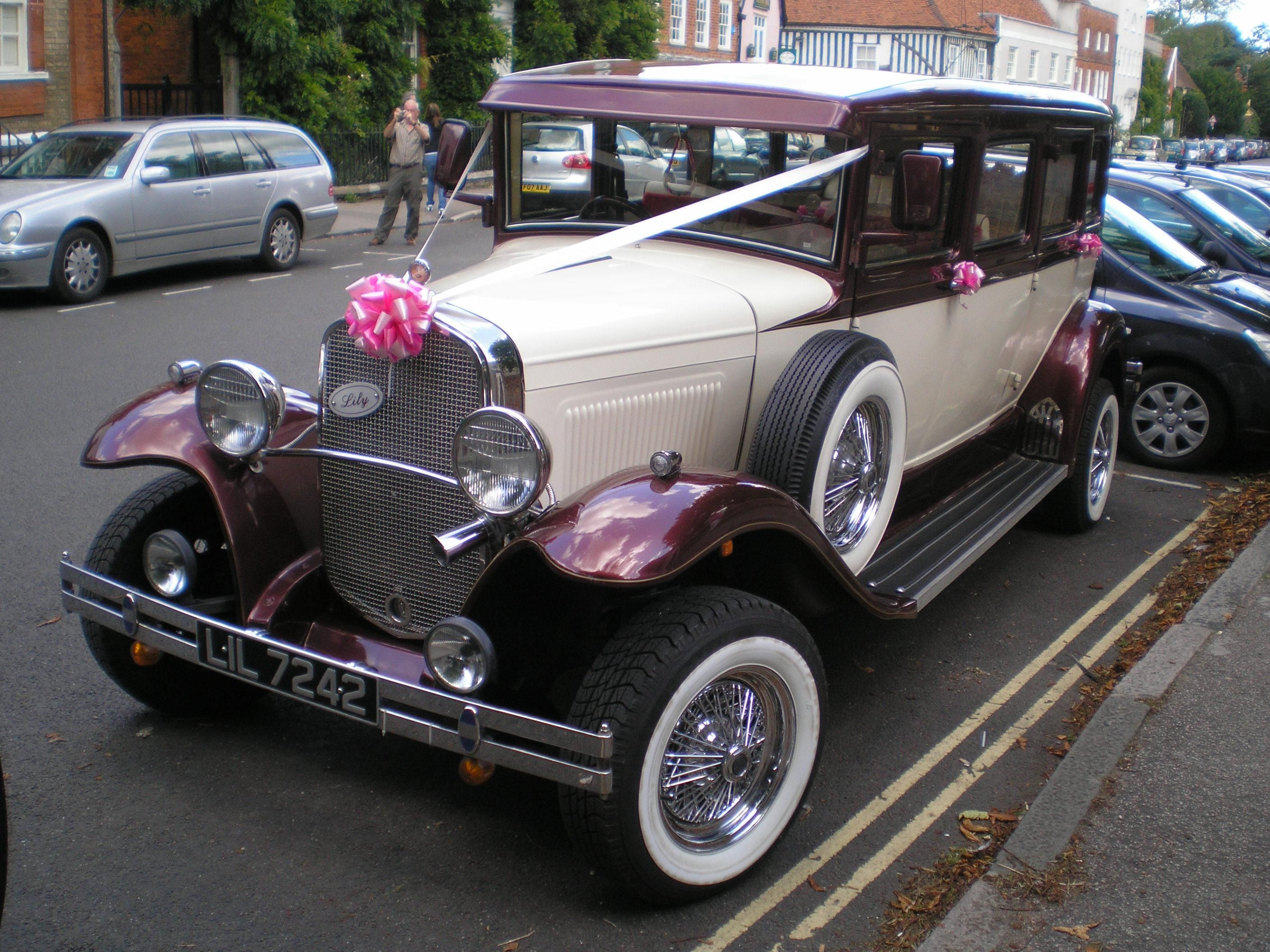 Free picture: wedding, car, oldtimer