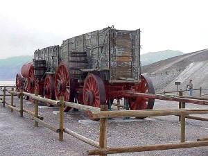 désert, la mort, vallée, mulet, équipe, wagons