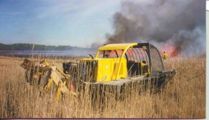 heavy, tracked, vehicle, tall, grass, prescribed, burn