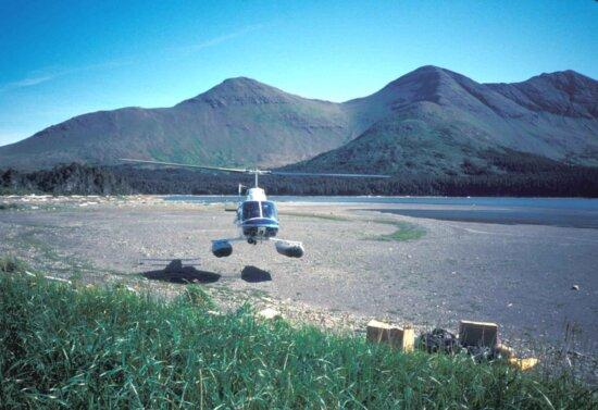 поплавок, вертолет