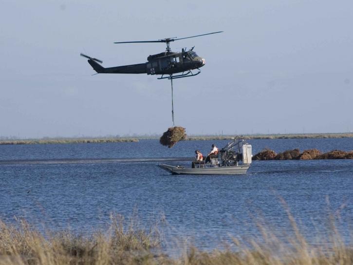 hélicoptère, air, alimenté, bateau, le transport, l'exploitation