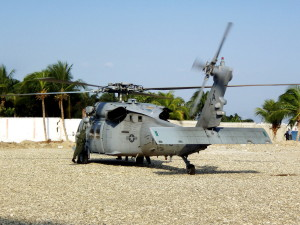 Naval, helicopter, landed