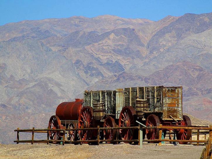 mule, train, wagons, death, valley